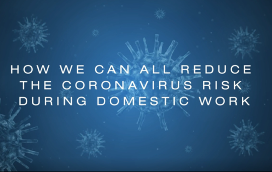 How we can all reduce COVID-19 risk during domestic work